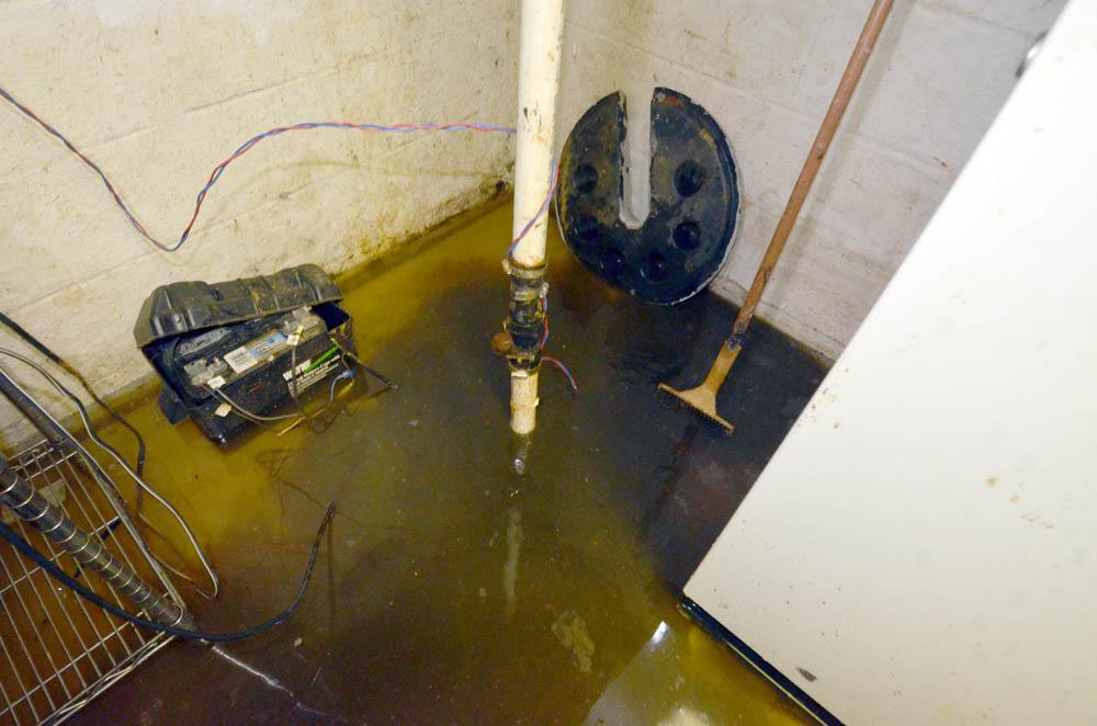 flooded basement-sump
