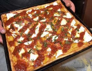 Sicilian Thin Crust Pizza
